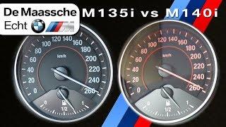 BMW M135i vs M140i 0-250km/h ACCELERATION & TOP SPEED - BMW M De Maassche Echt