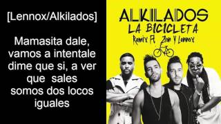 La Bicicleta Remix - Alkilados Ft. Zion y Lennox (Audio Official + Letra)