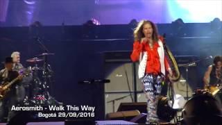 Aerosmith - Walk This Way - Bogotá 29/09/2016