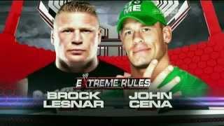 WWE Extreme Rule 2012 Match Card - John Cena vs Brock Lesnar (HQ)