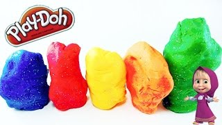Play Doh Surprise Masha And The Bear Figures - Маша и Медведь PlayDoh сюрприз - Eggs and Toys TV