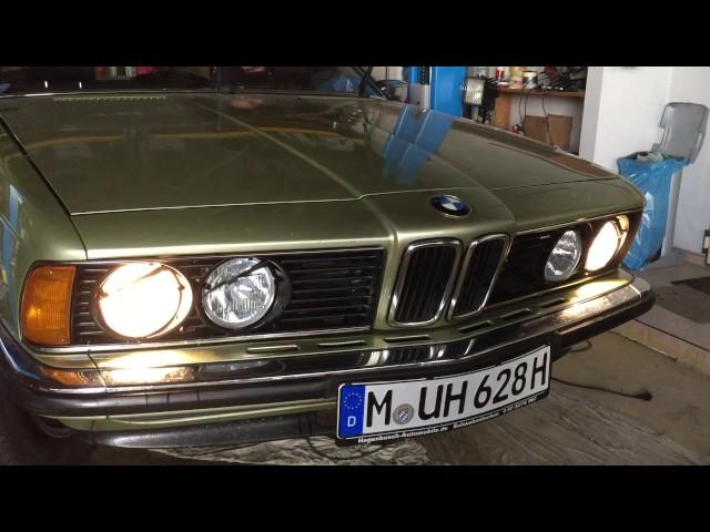 BMW 628 CSI, Baujahr 1980, Scheinwerfer WischWasch