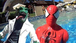 Lagarto Lizard x Homem Aranha Spiderman Marvel Select Avenger Piscina Swimming Pool Toys Kids