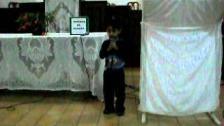 Pedro Henrique com 4 anos - Até 3 anos não falava por dificuldade auditiva.