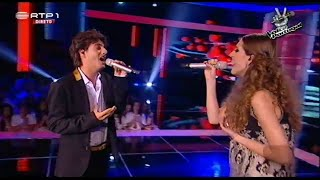"Luís Sequeira e Bianca Barros - ""One"" U2 ft Mary J Blige - The Voice Portugal - Gala 4"