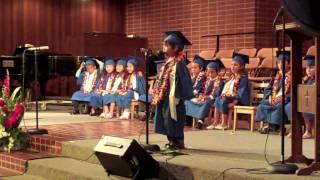 Evans Kindergarten Graduation Solo