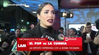 Lali Esposito enfrentada con La Bomba Tucumana