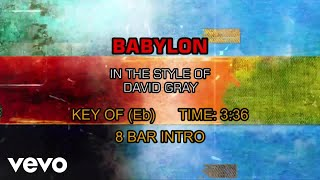 David Gray - Babylon (Karaoke)