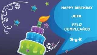 Jefa - Card Tarjeta - Happy Birthday