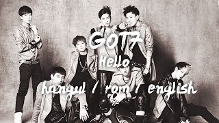 GOT7 - 여보세요 Hello (COLOR CODED hangul/rom/eng)