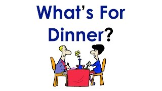 What's for Dinner? | Food Vocabulary | Learn Easy English Conversation Practice | ESL.