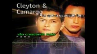 Quando um grande amor se faz - Cleyton & Camargo - Karaokê