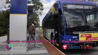 El servicio reducido de Metro Transit