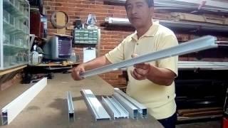 """como hacer una ventana 3"""" en aluminio"""