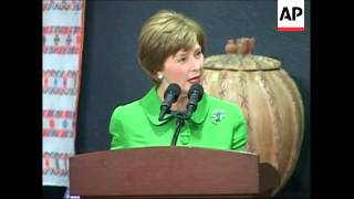 US First Lady Laura Bush at breast cancer awareness function
