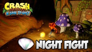 """Crash Bandicoot 2 - """"Night Fight"""" 1st Clear Gem and All Boxes (PS4 N Sane Trilogy)"""