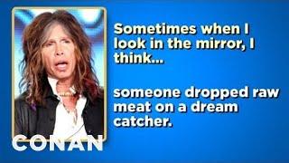 Celebrity Survey: Steven Tyler, Tan Mom Edition - CONAN on TBS