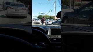 Homeless man goes mad in h town