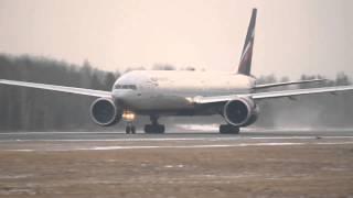 Взлёт Aeroflot Boeing 777-300ER VP-BGB в Емельяново