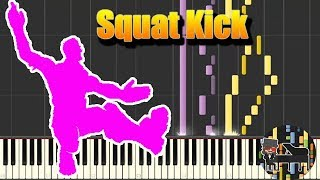🎵 Squat Kick - Fortnite Battle Royale (Emote) [Piano Tutorial] (Synthesia) HD Cover