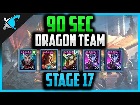 90 SEC *ALL RARES* DRAGON RUNS | Stage 17 | RAID: Shadow Legends