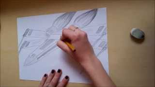 Speed drawing #1: Star Wars: X-Wing Fighter