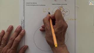 Imagen en miniatura para Circunferencias tangentes interiores a O1 y exteriores a O2