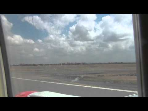 Jomo Kenyatta International Airport takeoff to Mombasa Kenya