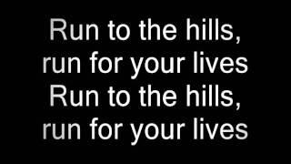 Iron Maiden - Run to the hills HQ sound (with lyrics)