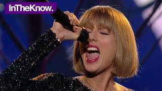 TAYLOR SWIFT performs Out Of The Woods GRAMMYs 2016! | InTheKnow