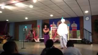 Aladdin as Prince Ali and Genie