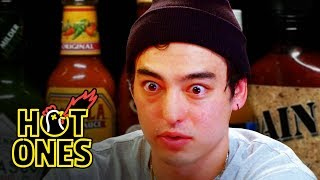 Joji Sets His Face on Fire While Eating Spicy Wings | Hot Ones width=