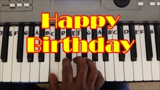Easy Happy Birthday Keyboard and Piano Tutorial (Right Hand)