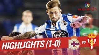 Resumen de RC Deportivo vs Real Sporting (1-0)