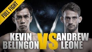 ONE: Full Fight | Kevin Belingon vs. Andrew Leone | Spinning Sidekick TKO | April 2018 width=