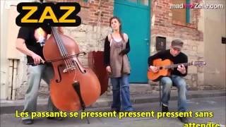 Zaz La Pluie Learn French with Songs French & English Lyrics Translation Tombe
