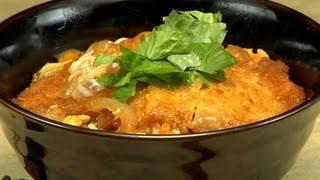 How to Make Katsudon (Pork Tonkatsu Rice Bowl Recipe) | Cooking with Dog