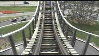 Pegasus Wooden Roller Coaster Front Seat POV Mt. Olympus Wisconsin Dells
