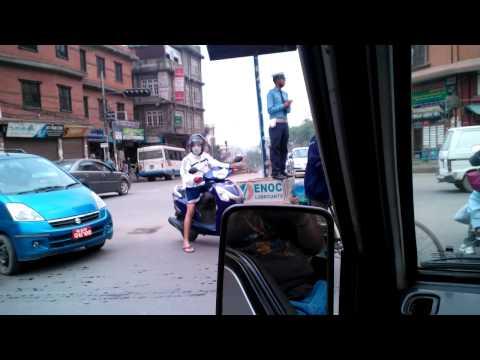 random street footage in Kathmandu Nepal