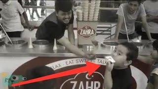 Kesal Dikerjain Penjual Es Krim Turki Zahra, Bocah Ini Makan Tissue
