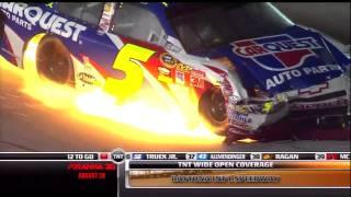 2010 NASCAR Daytona Mark Martin Fire
