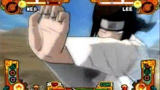 Naruto Shippūden Ultimate Ninja 5 PS2 (Neji) vs (Rock lee)