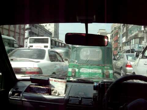 Busy Road in central Dhaka