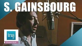 """Serge Gainsbourg  records """"Je suis venu te dire que je m'en vais""""   INA Archive"""