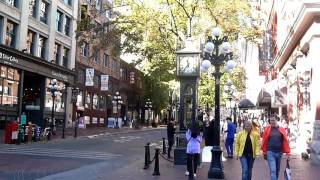Vancouver  Steam Clock  Gastown from   water street