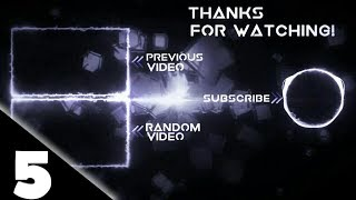 Top 5 FREE OUTRO Template [NO TEXT]