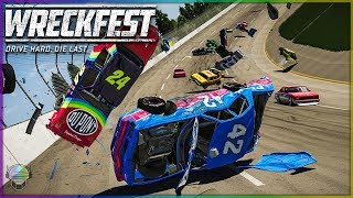 THE WORST WRECKS YET! | Wreckfest | NASCAR Legends Mod