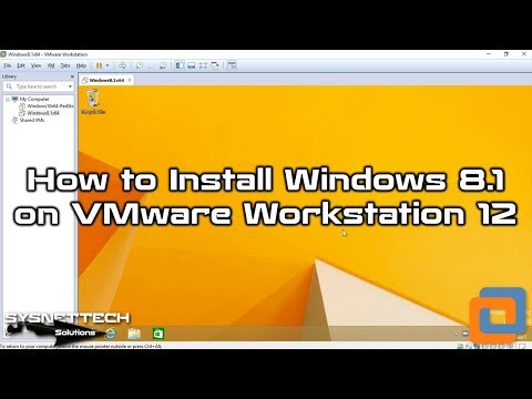 Installing Win8 with VMware 12