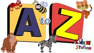 ABC Phonics song | Learning Alphabets A to Z with animals | Phonics for Children | Kidzstation