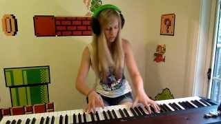 Lara plays the Star Wars Theme on piano